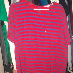 Levi's Red and Blue Striped Shirt